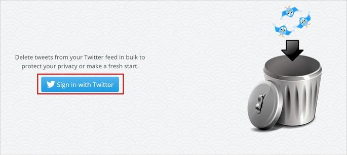 Conectando-se ao Twitter com o app TweetDelete