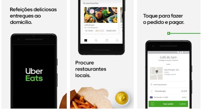 Aplicativo de comida Uber Eats
