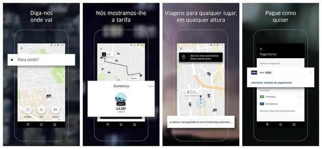 Adicionar contatos de confiança com o Uber