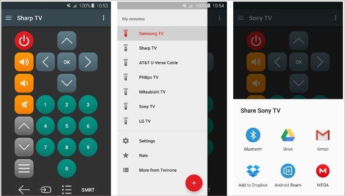 Imagem de divulgação do app Universal TV Remote na Play Store