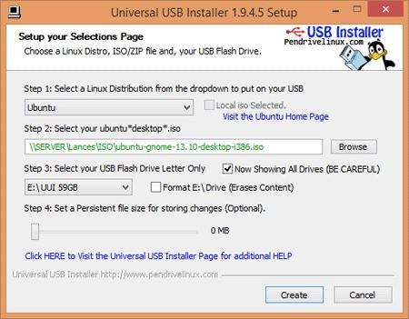 Imagem de divulgação do programa Universal USB Installer