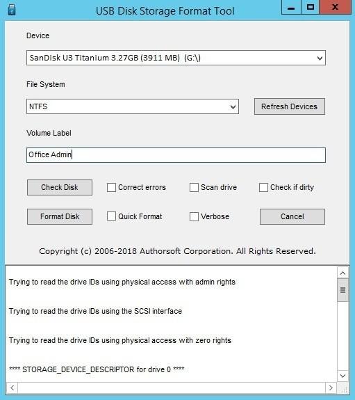 Imagem de divulgação do programa para formatar pen drive USB Disk Storage Format Tool