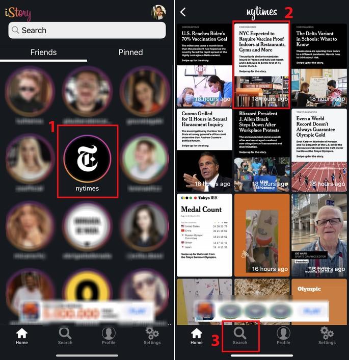 Como ver stories anonimamente no iPhone com o app iStories