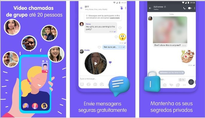 Mensagens instantâneas e videochamada com o Viber