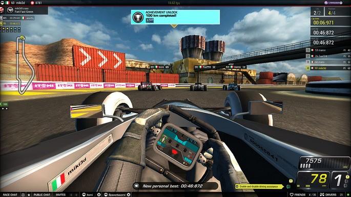 Imagem de divulgação do jogo de corrida para PC Victory: The Age of Racing