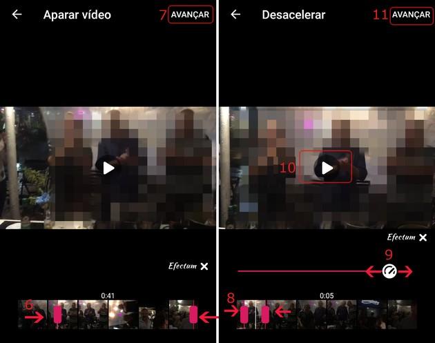 gravar vídeo em câmera lenta no Android