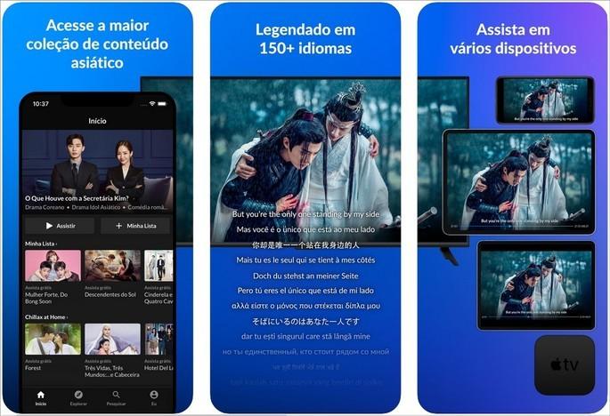 Imagem de divulgação do app de streaming Viki