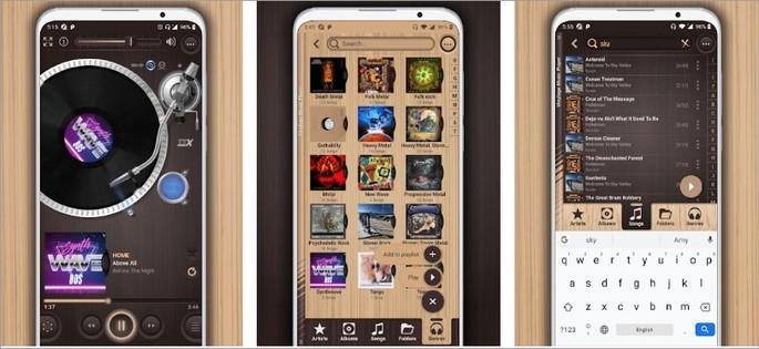 Imagem de divulgação do app Vinylage Music Player