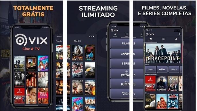 Imagem de divulgação do app de streaming de filmes e séries VIX