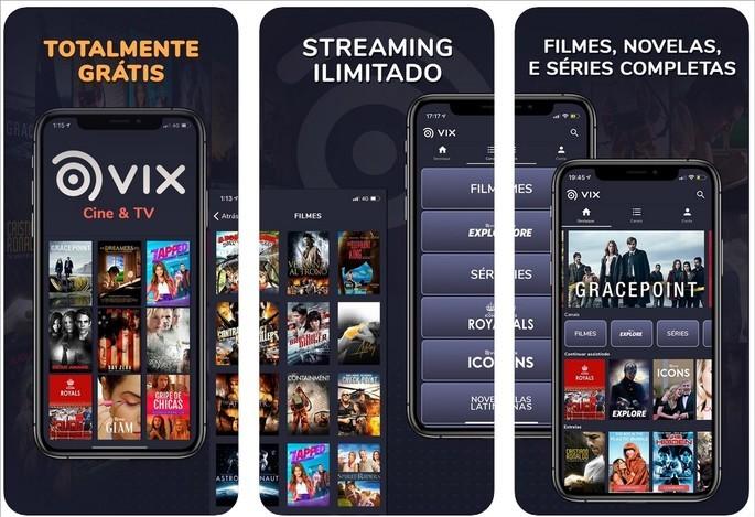 Imagem de divulgação do app de streaming VIX