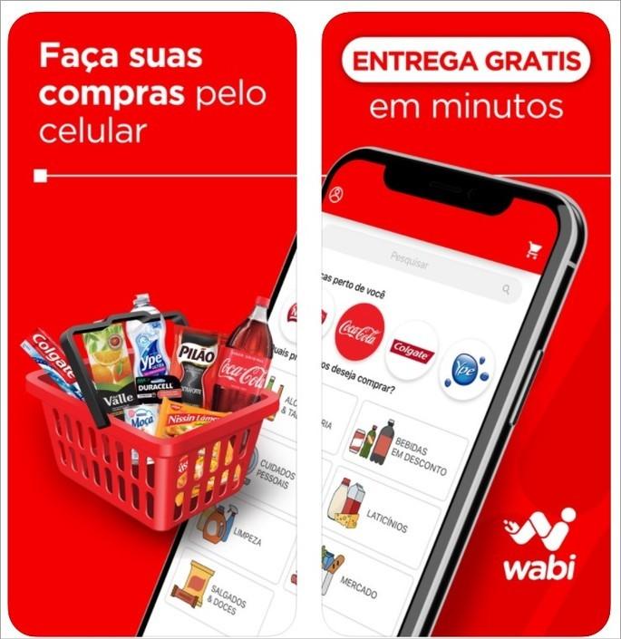 Imagem de divulgação do app de entrega Wabi