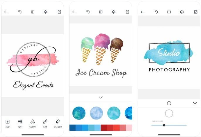 Imagem de divulgação do app Watercolor Logo Maker