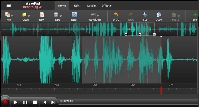 App de edição de música profissional para Android e iPhone WavePad