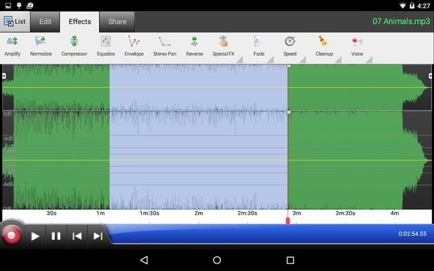 Edição de áudio com o editor de som WavePad