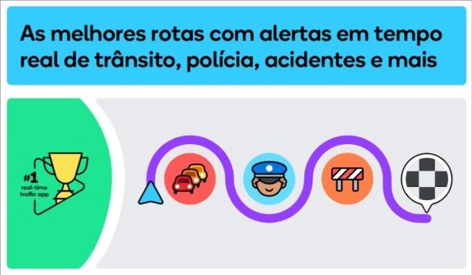 Imagem de divulgação do app Waze para Android