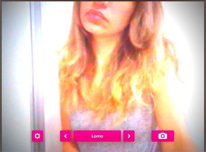 Captura de tela do webapp Webcam Toy