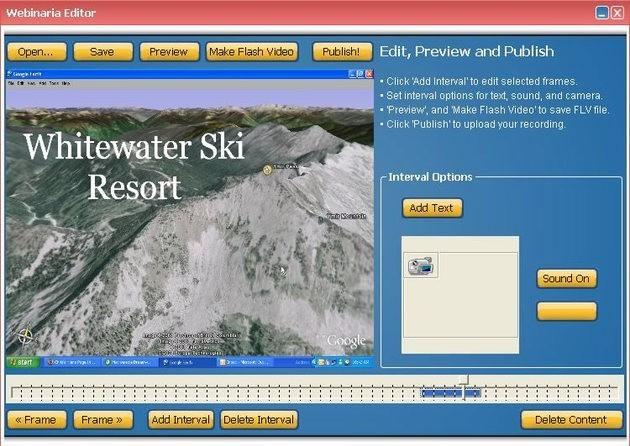 Captura de imagem do programa de gravação de tela Webinaria