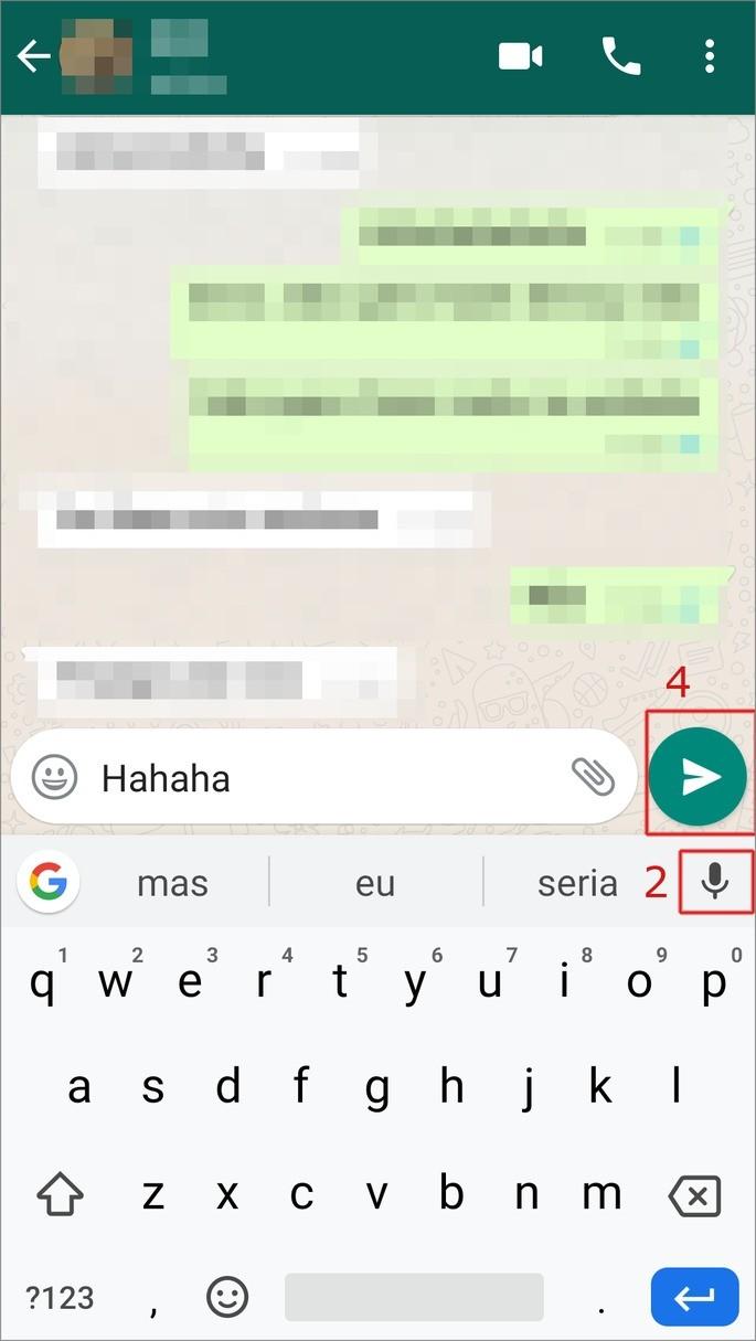 Transcrever audio em texto WhatsApp