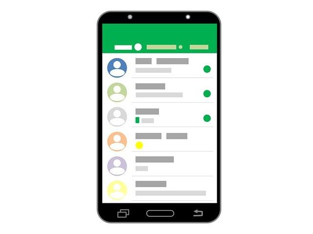 Ilustração que simula layout do WhatsApp