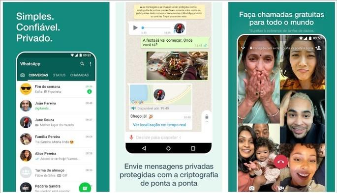 Mensagens instantâneas e videochamada com o WhatsApp