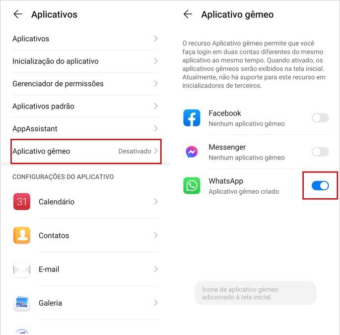 Como ativar o recurso de Dual Apps no smartphone da Huawei