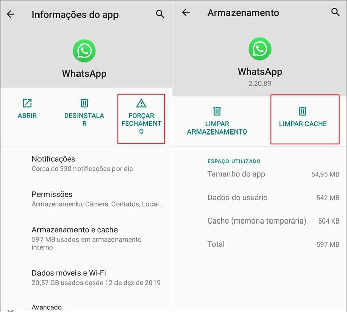 Whatsapp não funciona