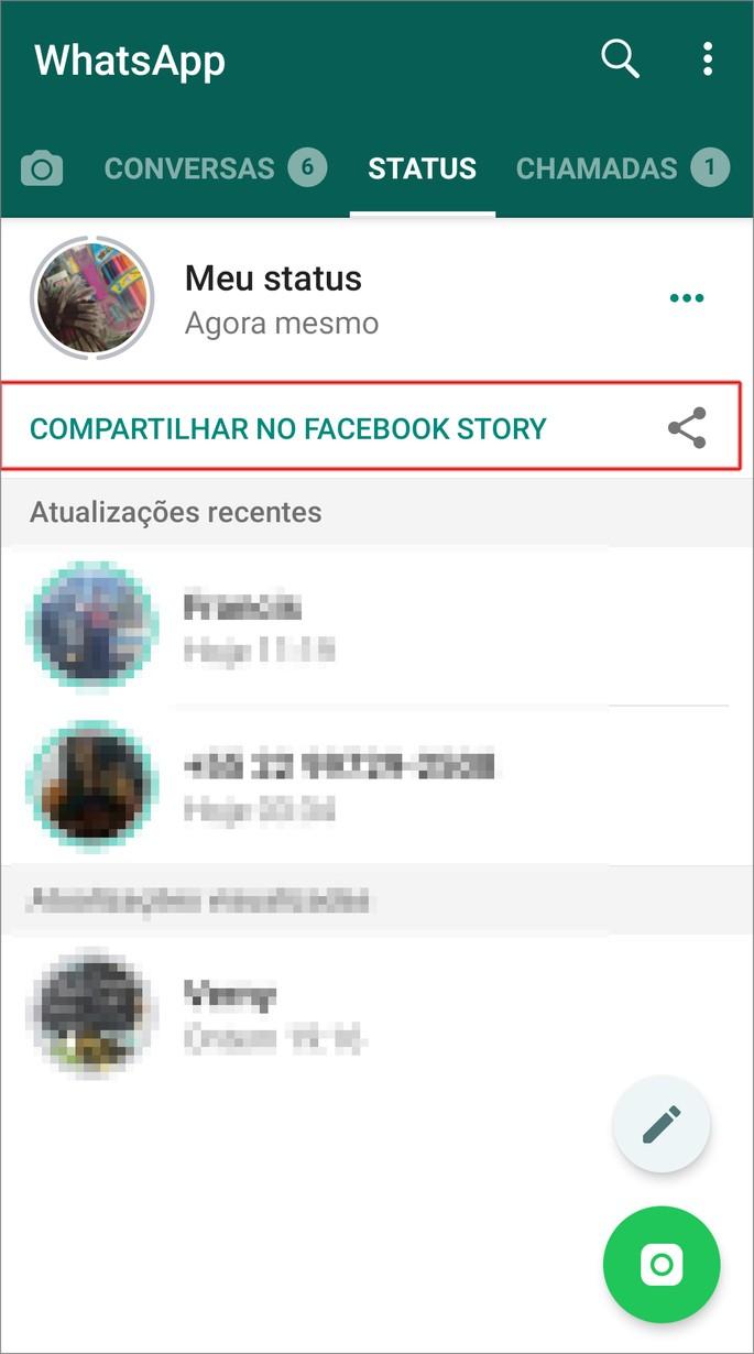 Ver stories do whatsapp