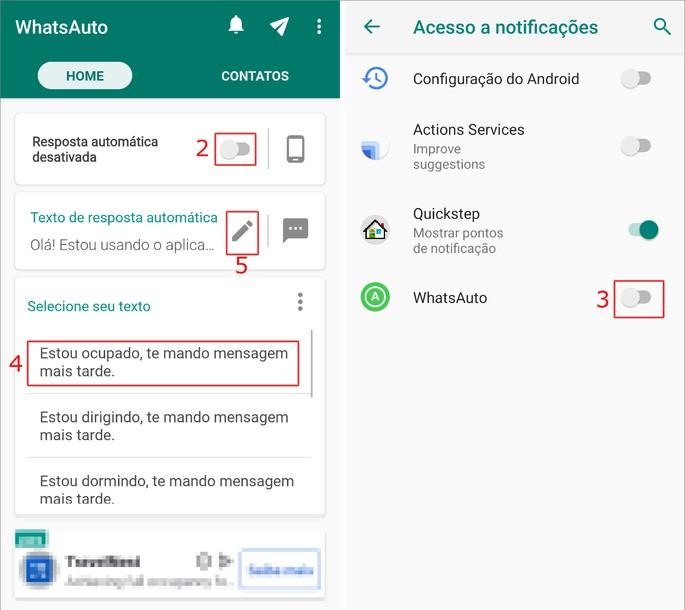 Resposta automática whatsapp