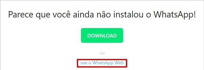 Iniciar uma janela de conversa no PC com o WhatsApp Web