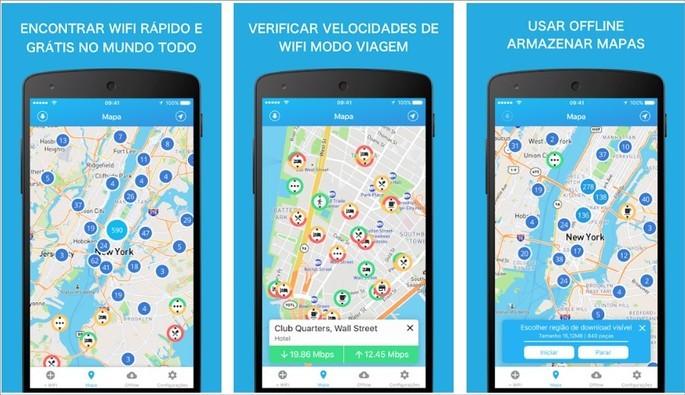 App para usar Wi-Fi grátis WiFi Finder