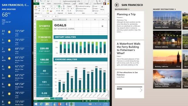 Divisão de tela no Windows 8.1