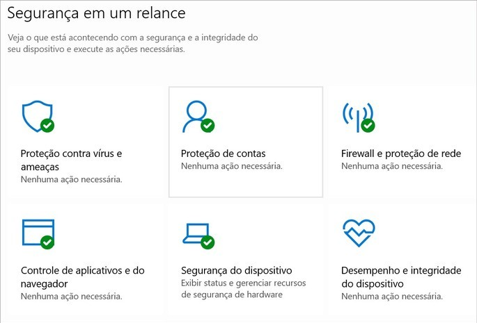 Captura de tela do Microsoft Defender Antivírus