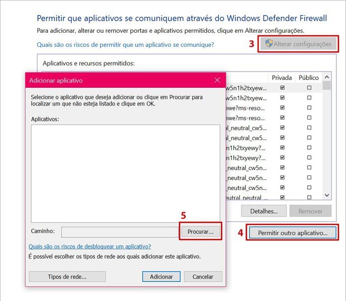 Como adicionar programa como exceção no Windows Defender