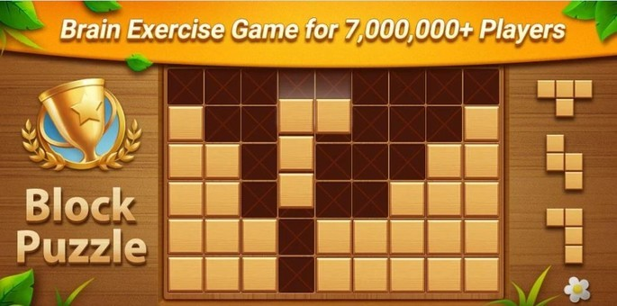 imagem de divulgação Wood Block Puzzle
