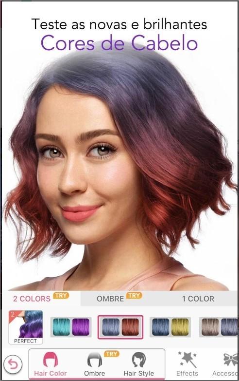Imagem de divulgação do app YouCam Makeup
