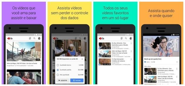 Baixar vídeos no celular com o YouTube Go
