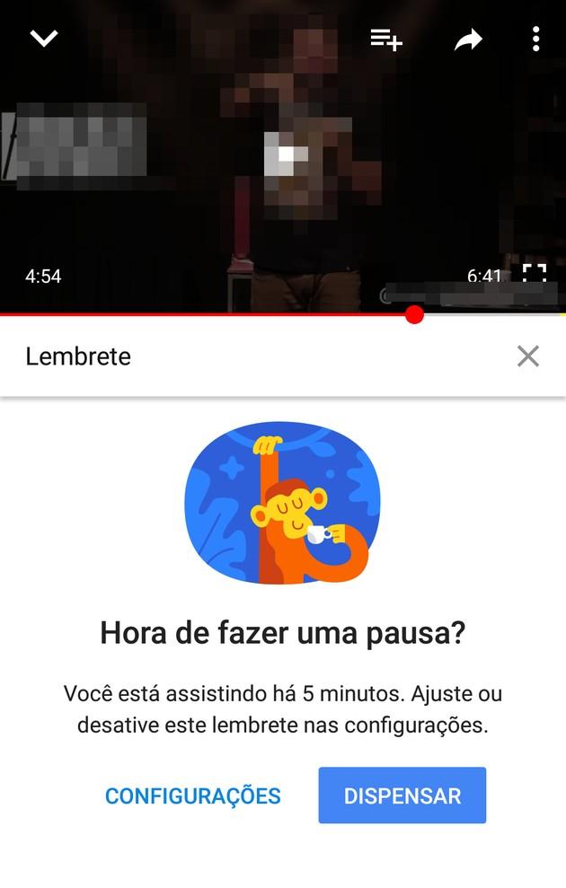 Lembrete do YouTube