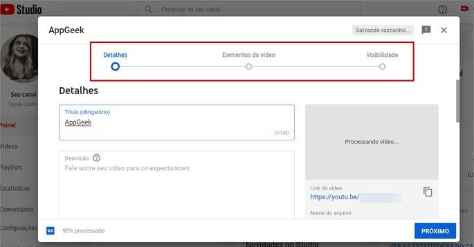 Adicionando informações nos vídeo do YouTube