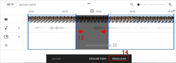 Cortar vídeo youtube studio