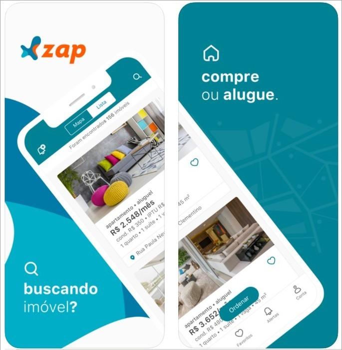 Imagem de divulgação do app de venda e aluguel de casas Zap Imóveis