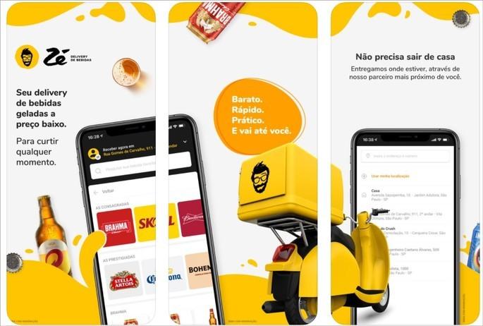 Imagem de divulgação do appd e entrega Ze Delivery de Bebidas